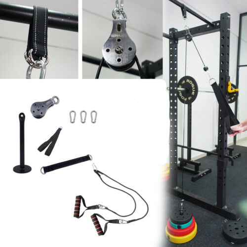 Fitness Pulley Cable Machine Attachment LAT DIY Home Fittings Chest Exerciser