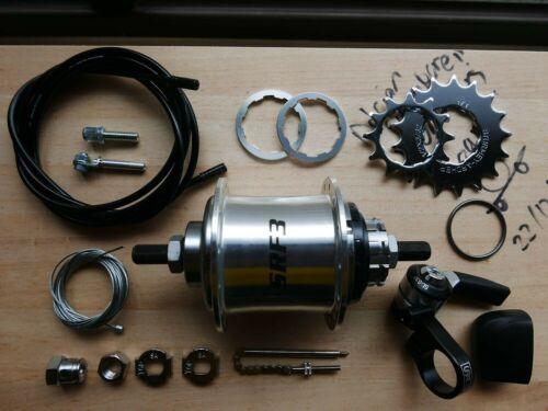Brompton Hub 28 holes S-RF3 X 2 Sprockets = 6 speed upgrade kit Sturmey Archer