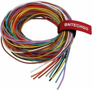 BNTECHGO 30 Gauge Silicone Wire Kit 10 Color Each 10 ft Flexible 30 AWG Stranded
