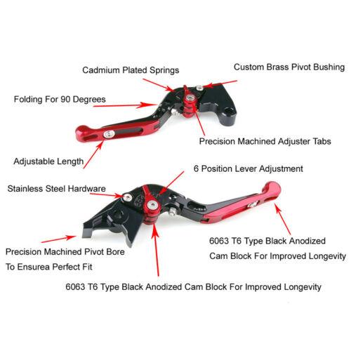 Adjustable Fold Extendable Brake Clutch Levers For Triumph BAYTONA 955i SRINT UK