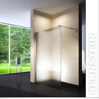 Duschabtrennung Walk-In Nano Echtglas 10mm 1cm EX101 - Milchglas  Breite wählbar