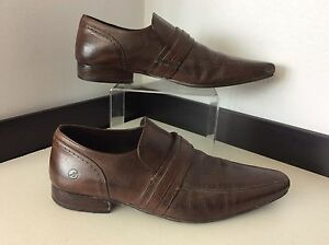 BRONX-BROWN-leather-Shoes-Brogues-Size-41-Uk-7-Vgc-Smart-Mens-Designer