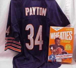 WALTER-PAYTON-CHICAGO-BEARS-JERSEY-AND-WHEATIES-BOX