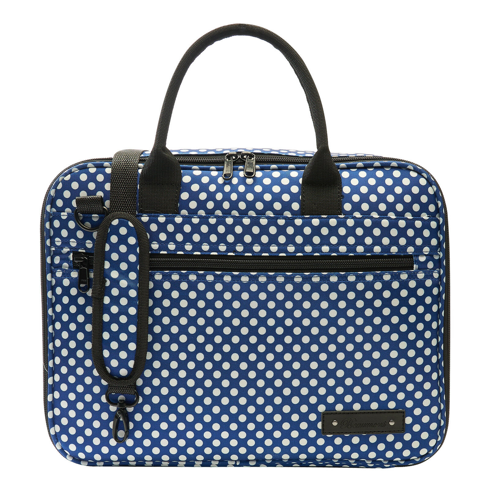 Beaumont Clarinet/Oboe Blau Polka Dot Case Cover - Bb Student Outer Carry Bag