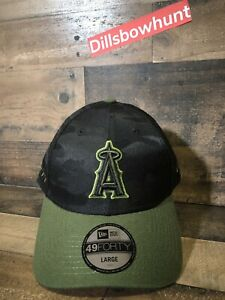 finest selection 0d168 54658 Image is loading New-Era-Los-Angeles-Angels-Black-Camo-Memorial-