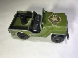 Vintage-Matchbox-Lesney-Superfast-1976-No-38-Jeep-Army-Green-Made-in-England