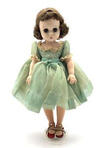 Vintage-Madame-Alexander-11-5-034-LISSY-Doll-In-Original-Tagged-Green-Dress