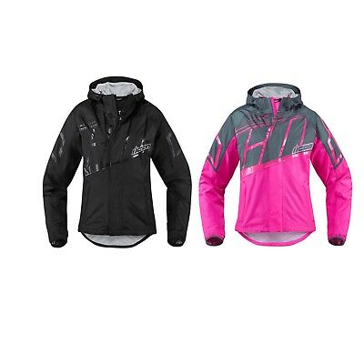 Icon PDX 2 Waterproof Rain Womens Dual-Sport Motorcycle Jacket Pick Color Size