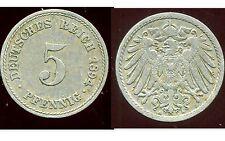 ALLEMAGNE 5 pfennig  1894 A