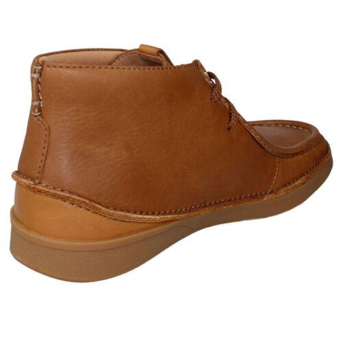 Venta Para Hombre Clarks Oakland mediados Con Cordones Inteligente Trabajo Chukka Botas al Tobillo Informales Talla Tan Leather