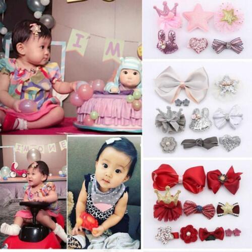 Baby Kids Girls Cute Hair Clip Hairpins Set Hair Clip For Kids Surprise 10Pc W10