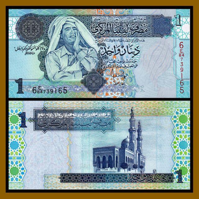 Combine FREE! LIBYA 1 Dinar P 76 2013 UNC Low Shipping