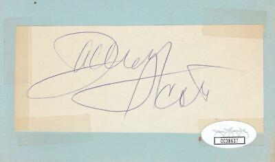 Cards & Papers Autographs-original Zachary Scott D 1965 Signed 2x4 Cut Of Paper Actor/flamingo Road Jsa Cc38637 Reputation First