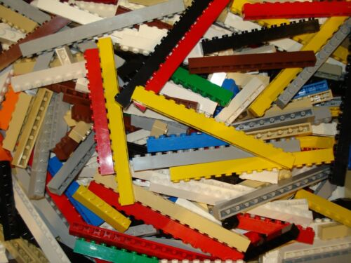 Lego x50 Beams//Bricks Mixed Colours Sizes 6x1 to 16x1 Great for Sets!