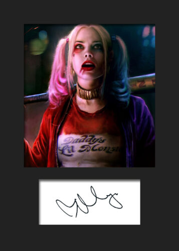 MARGOT ROBBIE SUICIDE SQUAD SIGNED PHOTO PRINT AUTOGRAPH HARLEY QUINN