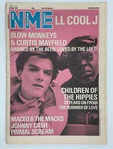 NME  30 May 1987 LL Cool J Blow Monkeys Primal Scream Johnny Cash Maceo & Macks