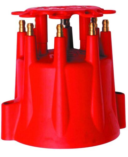 Marine Ea. Screw-Down MSD # 8565 Dist Cap Male//HEI-Style Pro-Billet V8 Red