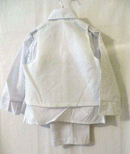 Lito 5Pc Suit 3711 White Jacket Vest Pants LS Shirt /& Tie Sz 2 3 or 4T #11204
