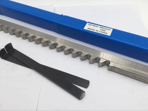 "1//2/"" D Push Type Keyway Broach Cutter HSS 1//2 Inch Cutting Tool CNC"