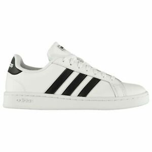 adidas-Mens-Grand-Court-Trainers-Sports-Shoes-Low-Lace-Up-Leather-Upper