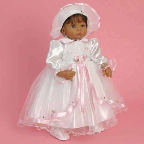 Taufkleid Festkleid Taufgewand Kleid Taufe Hochzeit Babykleid Taufset Nr.0ta1