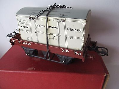 Bellissimo Hornby 'o' Gauge Flat Truck With Insul-meat Container - Boxed - Imaculate