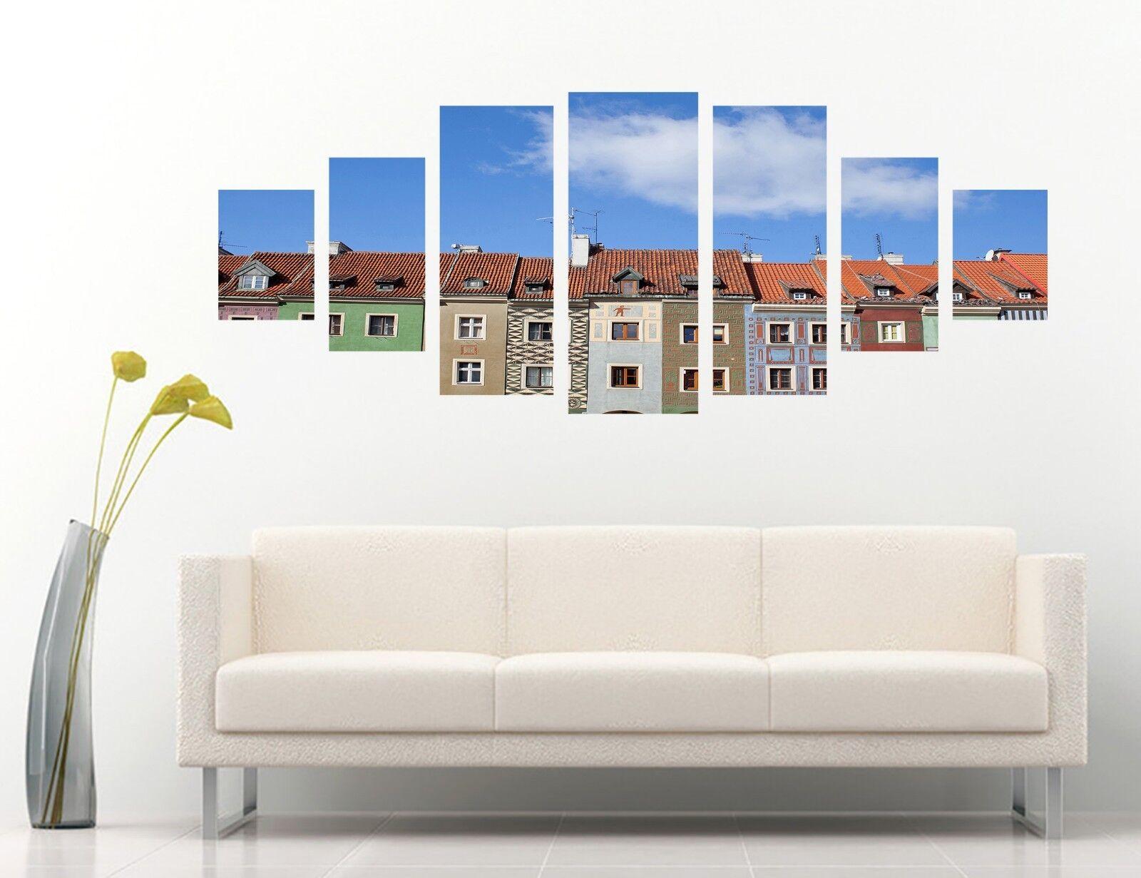 3D Farbe Houses 678 Unframed Drucken Wand Papier Decal Wand Deco Innen AJ Wand
