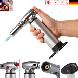 Flambierbrenner-Flambiergeraet-Kuechenbrenner-Kueche-Creme-Brulee-1300-C-Silber-NEU