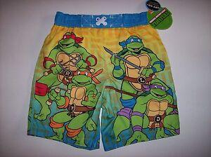 TMNT-Swimsuit-Swimwear-Trunks-Bathing-Suit-Boys-2T-3T-4Toddler-UPF-50-NWT