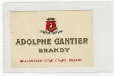 ADOLPHE GANTIER BRANDY: Label (C3362).
