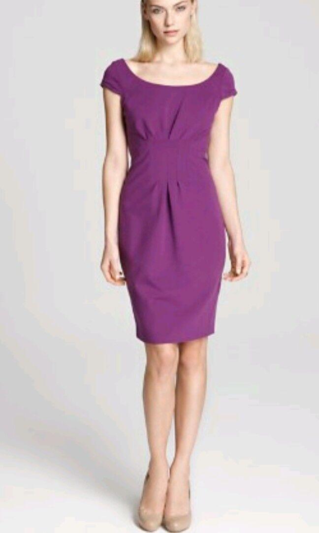 Designer ELIE TAHARI ponte shift dress size 10 --BRAND NEW-- knee length purple