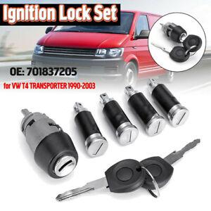 Ignition-Switch-amp-Door-Lock-Barrel-Set-2-Keys-For-VW-T4-TRANSPORTER-1990-2003