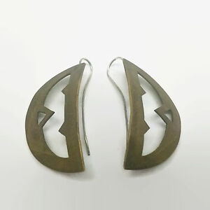Gold-Tone-Cut-Out-Design-Handcrafted-Earrings