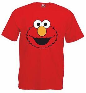 Details About Elmo Sesame Street Kid S Red Cotton Short Sleeve Cartoon Character Crew T Shirt
