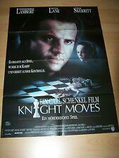 KNIGHT MOVES - Kinoplakat A1 ´92 - Christopher Lambert DIANE LANE Tom Skerritt