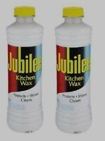 2 15 Oz Jubilee Kitchen Wax Cleaner Protects Shines Multi Room & Surface