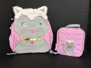 Pottery Barn Kids Kitty Critter Small Backpack Amp Lunch Box