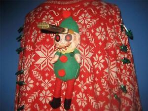 Evil Zombie Elf Lights Nordic Walking Dead Ugly Xmas