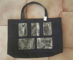 Image Is Loading Bed Bath Amp Beyond Black Photo Front Tote