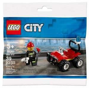 Lego-City-30361-Fire-ATV-Pompier-Figure-NEUF-RARE-sealed-Promo-Set-Free-POST
