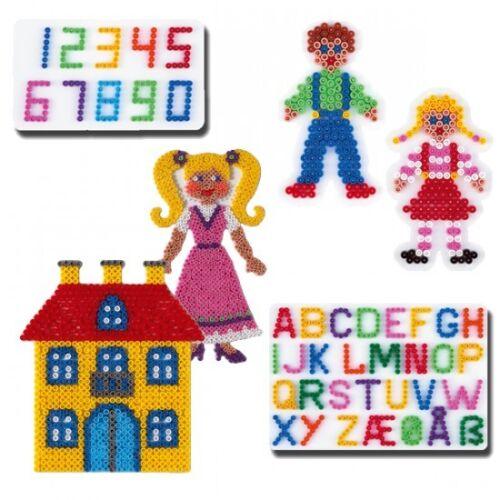 HAMA midi Bügelperlen Stiftplatten-Set SCHULE mit 272,273,285,286,304,306