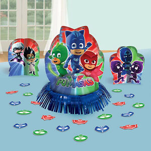 Image Is Loading PJ Masks Table Decorating Kit Birthday Party Supplies
