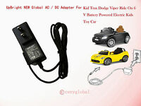 Ac Power Adapter For Kid Trax Avigo Audi Tt Roadster Ride On 6v Battery Charger