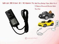 Ac Power Adapter For Kid Trax Avigo Audi Tt Roadster Ride On 6v Battery Charger