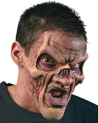 Ghoul Foam Latex Mask and Make Up Kit Zombie Prosthetic Adult Size