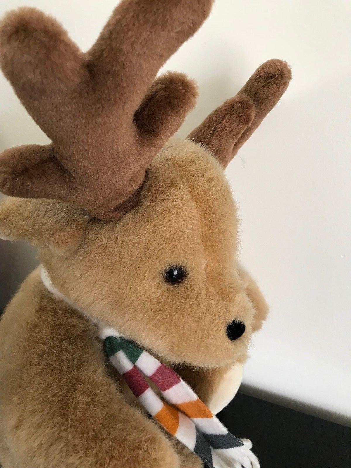 Hudsons Bay Company Vintage Reindeer Hudson Bay Scarf Scarf Scarf Stuffed Toy 13