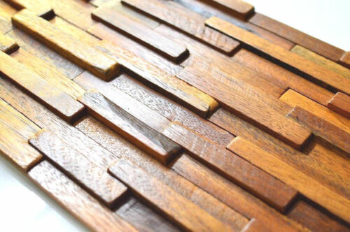 Mur Carrelage 3D Mur Bois Panneaux muraux revêtements muraux vintage Récupéré en bois