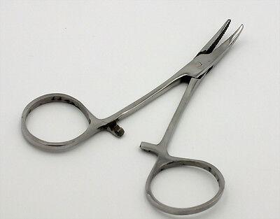 "locking FF117 Fishing Hemostats Forceps  Hook Remover 6/"" Curved Tip"