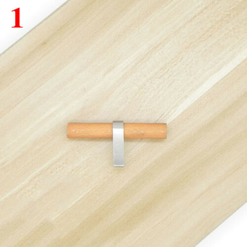 Wooden Cabinet Pulls Furniture Handle Cupboard Wardrobe Closet Drawer Door Knobs