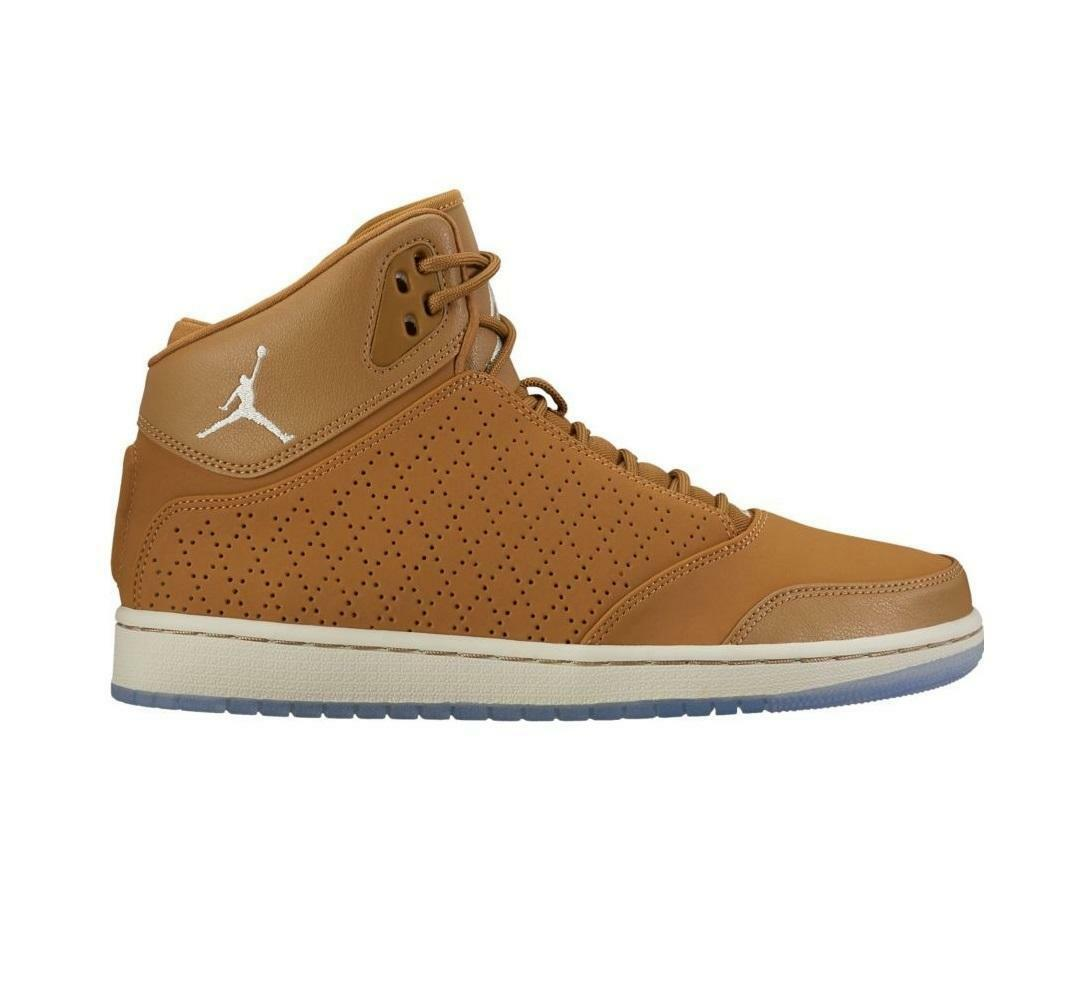 Mens NIKE JORDAN 1 FLIGHT 5 PREM golden Beige Hi Top Trainers 881434 202